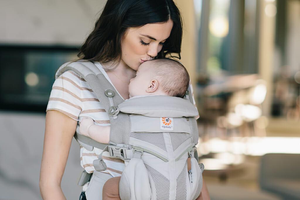 Ergobaby Ireland   Babywearing   Omni 360 Cool Air Mesh Baby Carrier in Pearl Grey